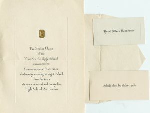 A 1925 Graduation from High school invitation