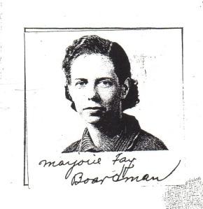 Marjorie's Declaration of Intention Photo